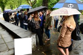 Buyers queuing up to view property