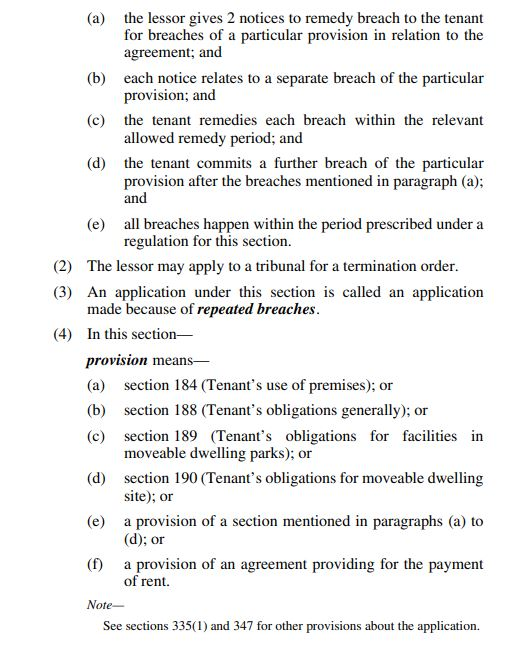 Extract of Section 299of the RTRA Act