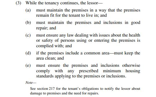 Section 185 of the RTRA Act